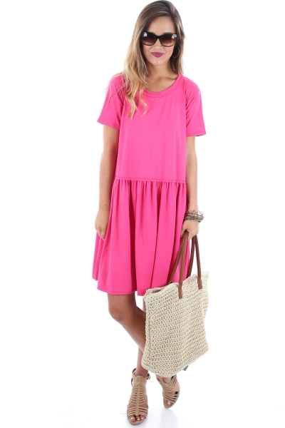 Brittany Babydoll Dress, Pink