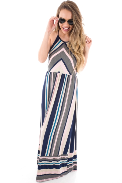 Melanie Striped Maxi