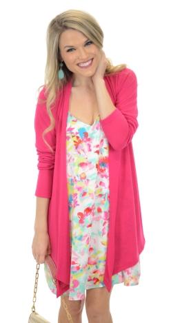 Necessity Cardigan, Pink