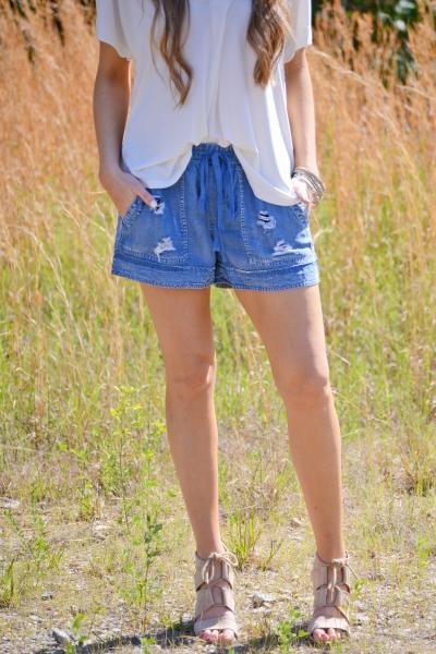 Drea Distressed Shorts
