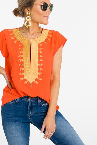 Golden Girl Blouse, Orange