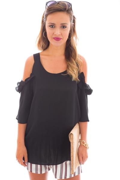 Alessandra Cold Shoulder, Black