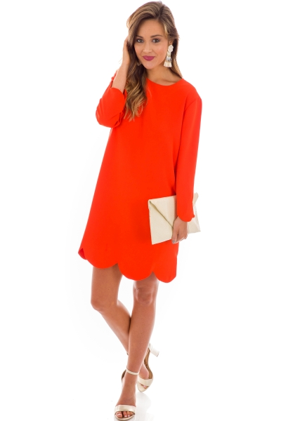 Floating on a Cloud Dress, Coral