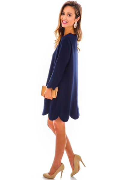 Floating on a Cloud Dress, Navy