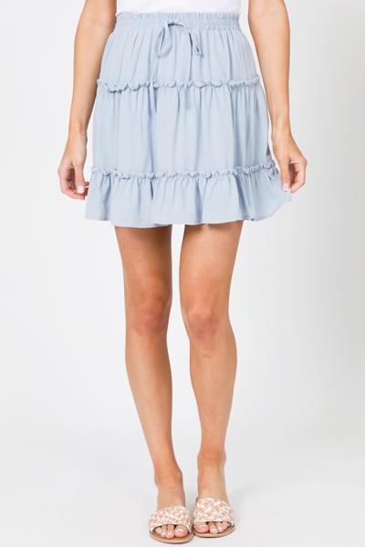 Sky Blue Ruffle Skirt