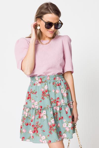 Posie Pull On Skirt, Teal