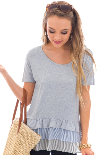 Ruffled Touch Tee
