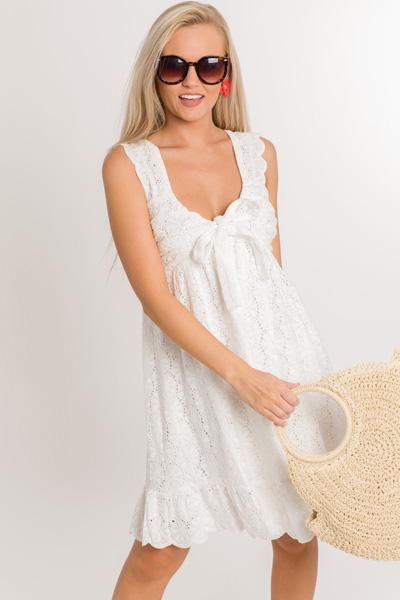 Eyelet Flower Dress