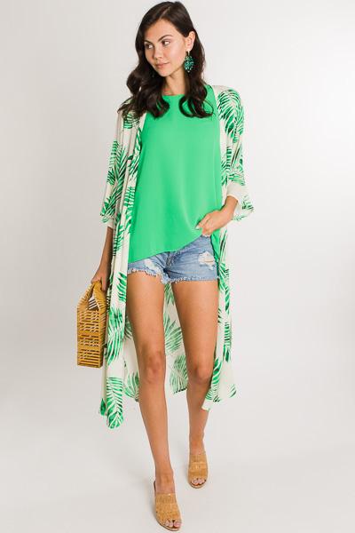 Palms Away Kimono