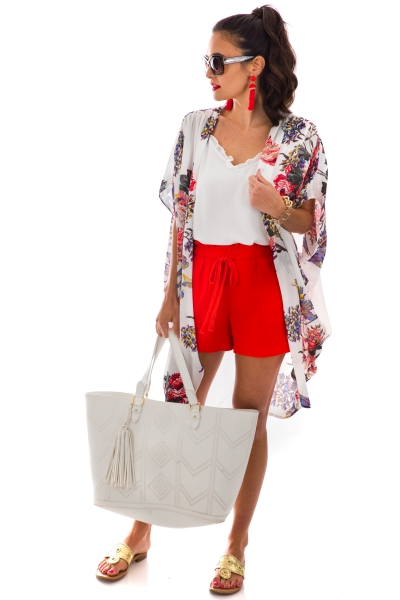 Lorlai Kimono, White