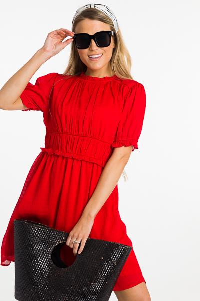 Fire Cracker Dress, Red
