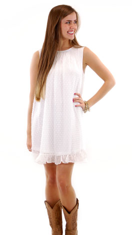 Swiss Miss Dress, White