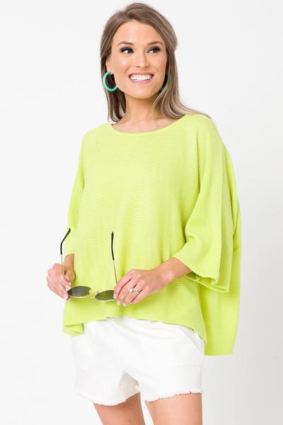 Spring Fling Sweater, Lime