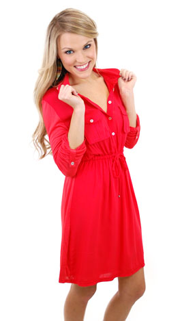 Daily Dose Dress, Red