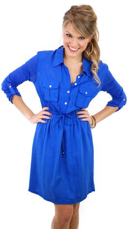 Daily Dose Dress, Blue