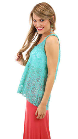 Wall Flower Tank, Mint