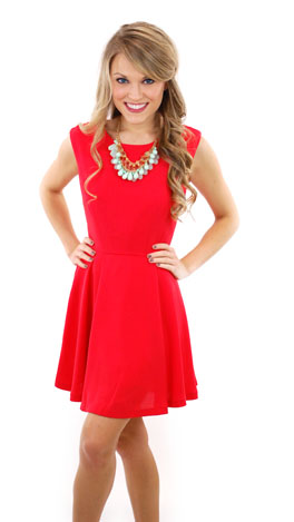 Right On Target Dress, Red
