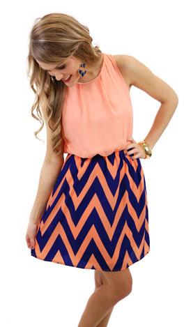 Polly Chevron Dress