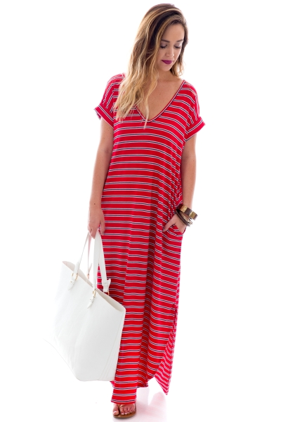 Nautical Maxi, Red Stripes
