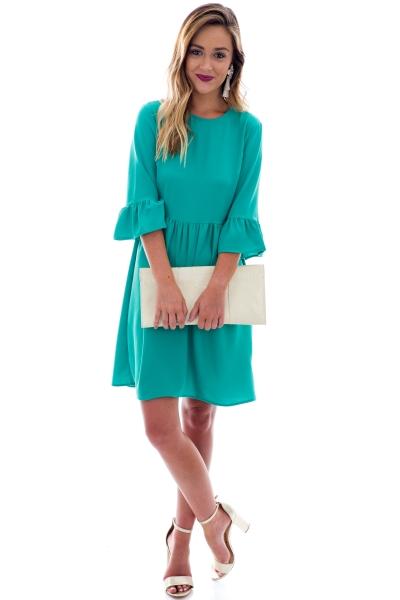 Brit Bell-Sleeve Dress