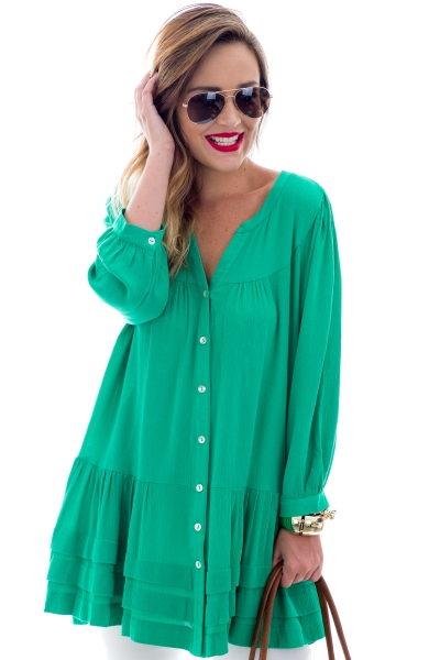 Bethel Tunic, Green