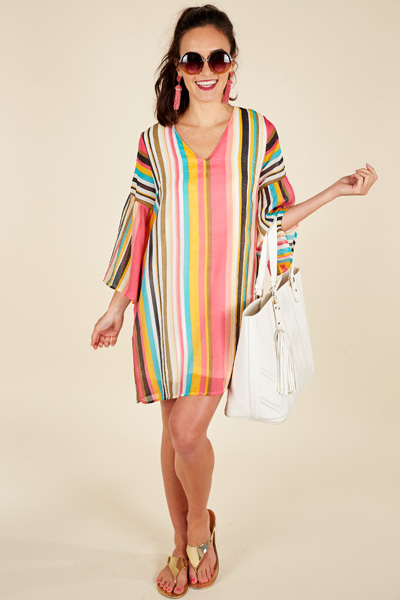 Tropic Stripes Dress