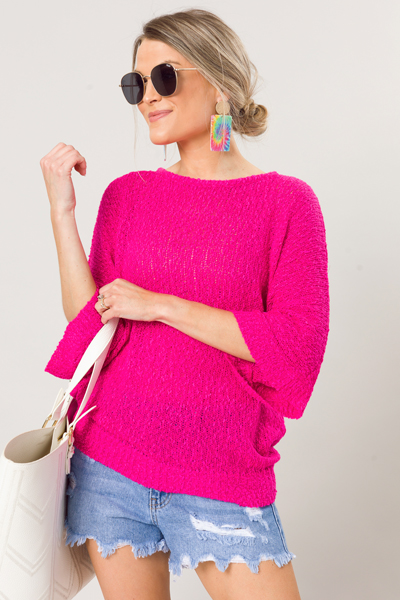 Olivia Sweater, Hot Pink
