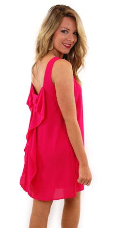 Bow Back Tank Dress, Fuchsia