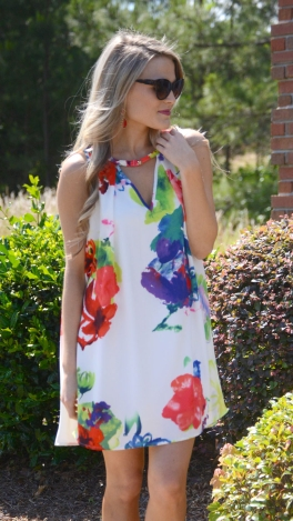 Bright Tunic Dress, Floral
