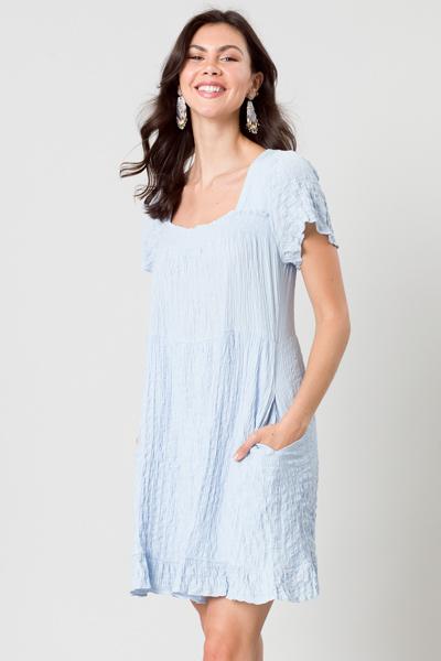Texture Dress, Sky Blue