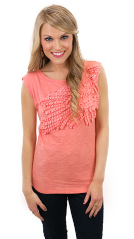Class Favorite Top, Coral