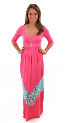 Turn Back Time Maxi, Pink