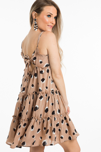 Mocha Blots Slip Dress