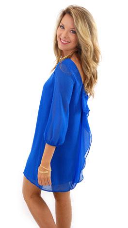 Bow Back Dress, Blue