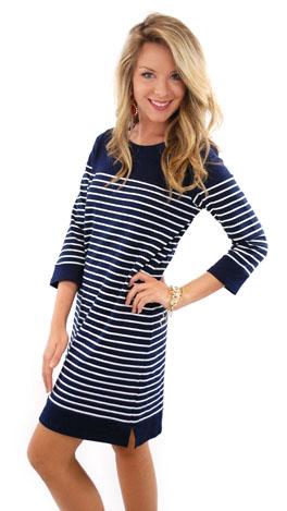 Nautical Watch Dress, Navy
