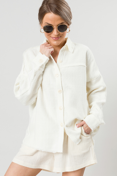 Ivory Fray Button Down