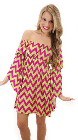 Shoulder Shimmy Dress, Pink