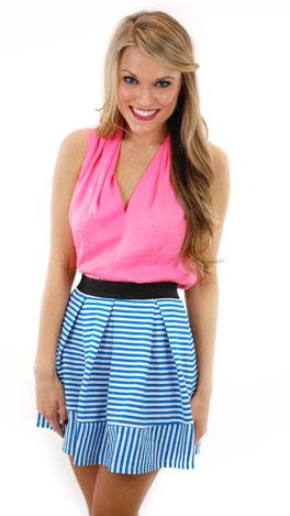 Charlotte Skirt, Blue