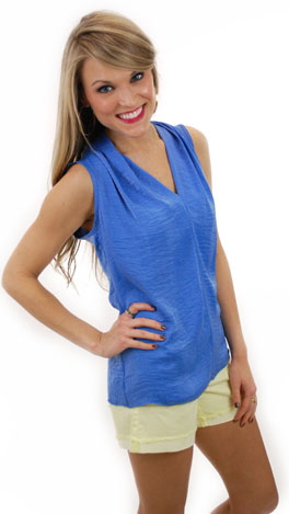 Silky Smooth Top, Blue