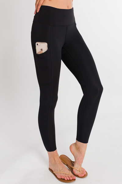 Side Pocket Legging, Black