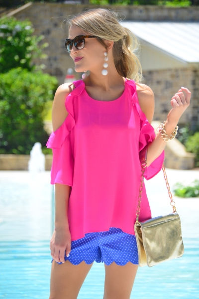 Mckell Top, Hot Pink