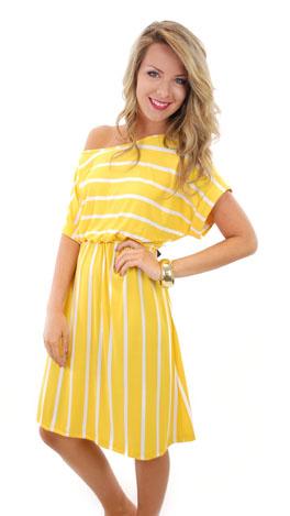 Long Story Dress, Yellow