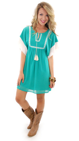 Why Wyoming Dress, Green