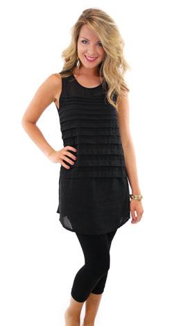 Latitude Tunic, Black