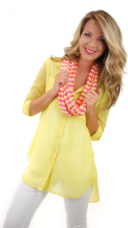 Breezy Button Down, Yellow