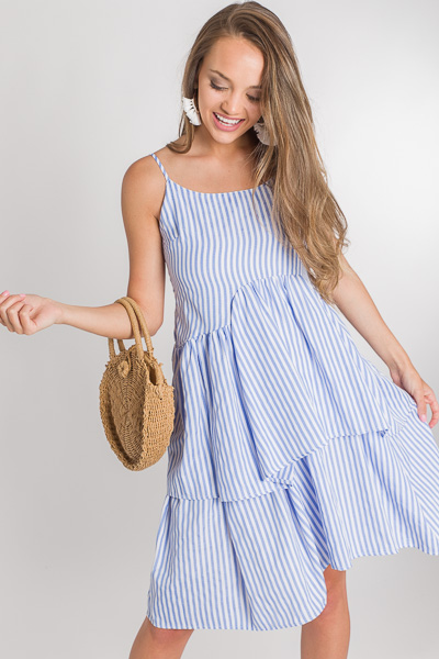 Fluffed Up Stripe Dress