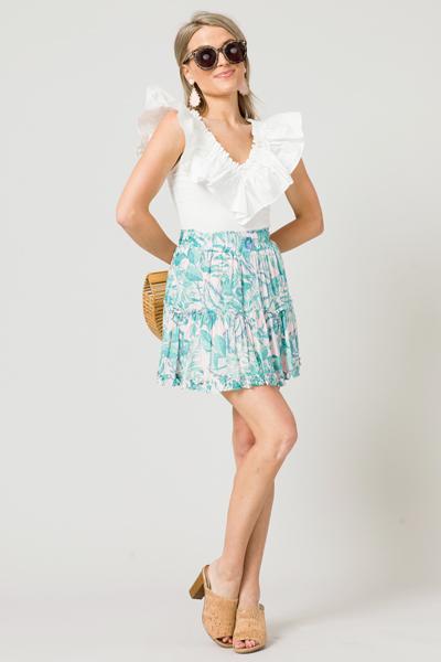 Key West Skirt, Pink/Green