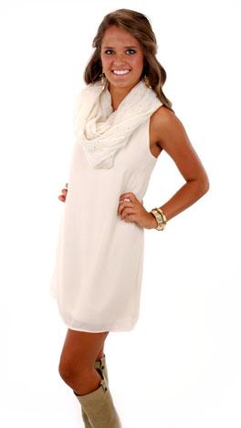 Slip Knot Dress, Ivory