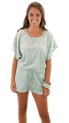 Ingrid Romper, Green