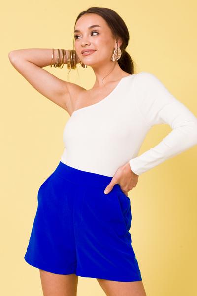 Single Sleeve White Bodysuit